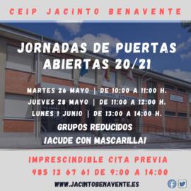Puertas Abiertas 20-21mayo-2020